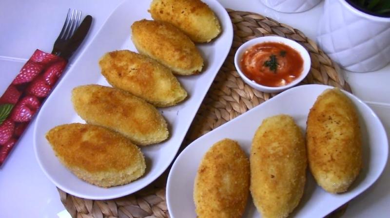 Картофельные котлеты с начинкой из фарша — рецепт из отварного картофеля