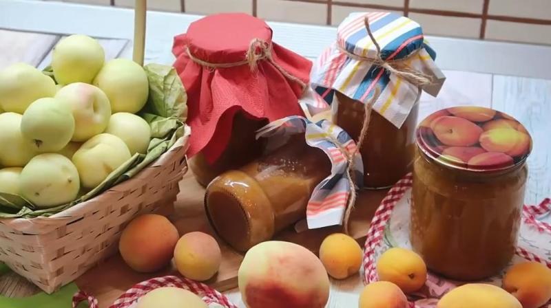 Домашнее варенье из абрикосов и персиков без косточек на зиму