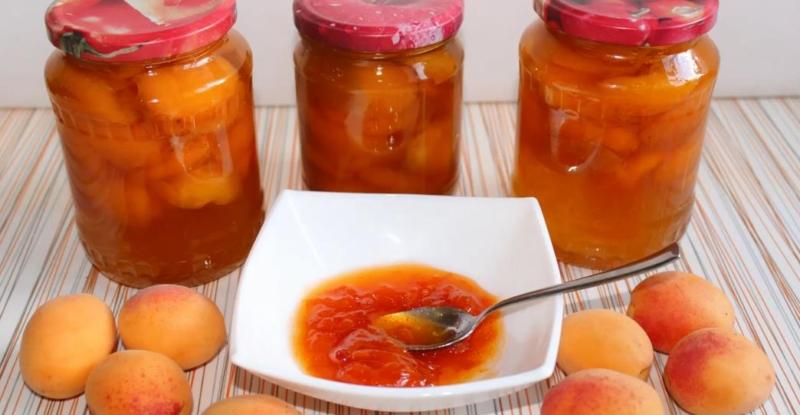 Варенье из абрикосов без косточек Пятиминутка – рецепт на зиму