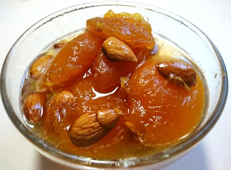 Варенье из абрикосов с миндалем и лимоном. Пошаговый рецепт