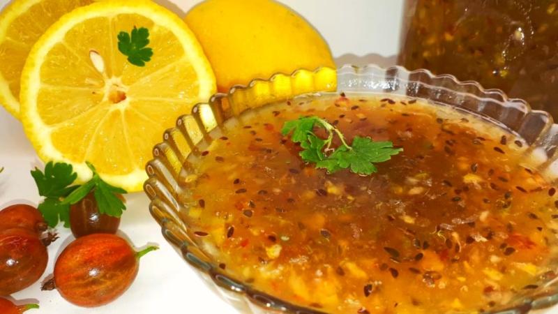 Варенье из крыжовника с лимоном и мятой на зиму через мясорубку