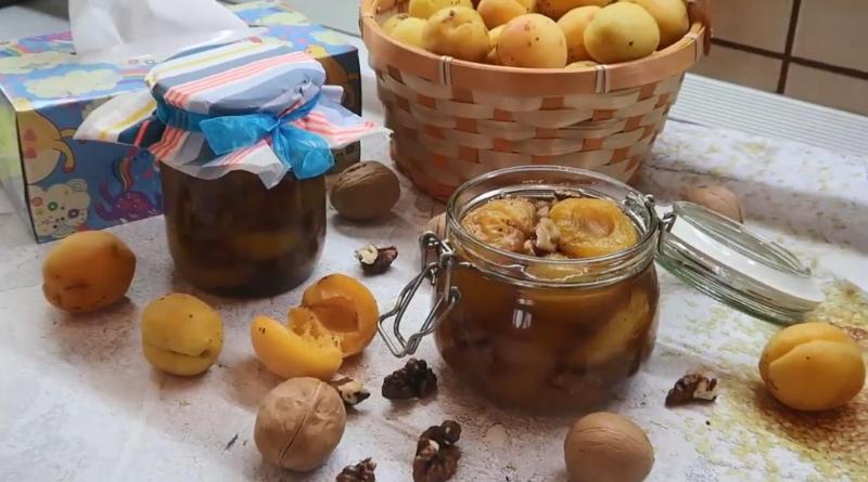Вкусное варенье из абрикосов с грецкими орехами на зиму