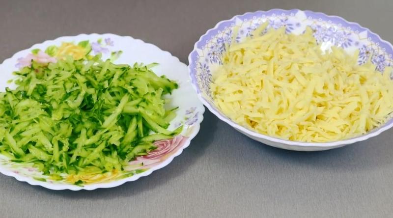 огурец и сыр